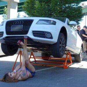 Для подъёма автомобилей