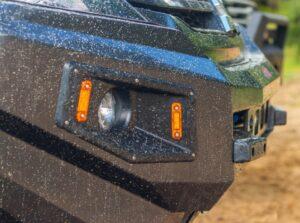 Силовой бампер передний Mitsubishi L200 5 рестайлинг (после 2018 года) (серия Рино)